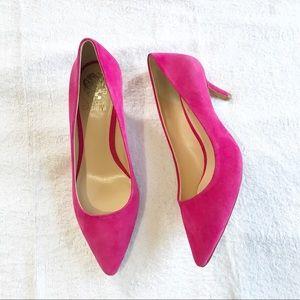 Vince Camuto Pink Suede Pumps Shoes Size 8.5 KEMIR